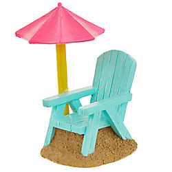 Top Fin® Beach Chair Aquarium Ornament