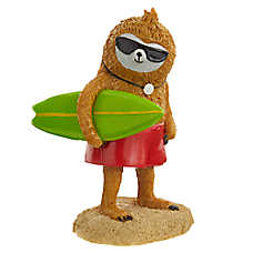Top Fin® Sloth Surfer Aquarium Ornament