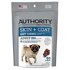 Authority® Skin & Coat Small Breed Adult Dog Soft Chews
