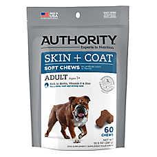 Authority® Skin & Coat Adult Dog Soft Chews
