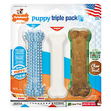 Nylabone® Puppy Triple Pack Chew Dog Toy -3 Pack (COLOR VARIES)