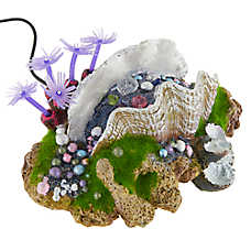 Top Fin® Clam with Pearls LED Aquarium Ornament