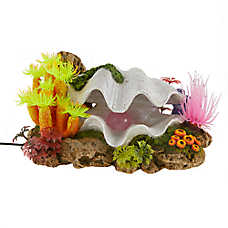 Top Fin® Colorful Clam LED Aquarium Ornament