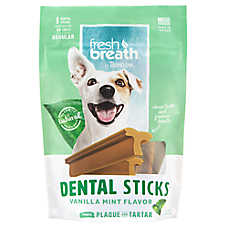 TropiClean® Fresh Breath® Dental Sticks - Vanilla Mint