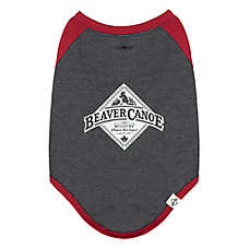 Beaver Canoe Henley Dog T-Shirt - Charcoal