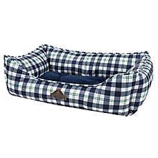 Beaver Canoe Nester Dog Bed - Blue Plaid