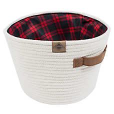 Beaver Canoe Storage Toy Basket - Buffalo Plaid