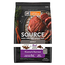 Simply Nourish® SOURCE ™ Dog Food - Natural, High Protein, Grain Free, Kibble + Pork