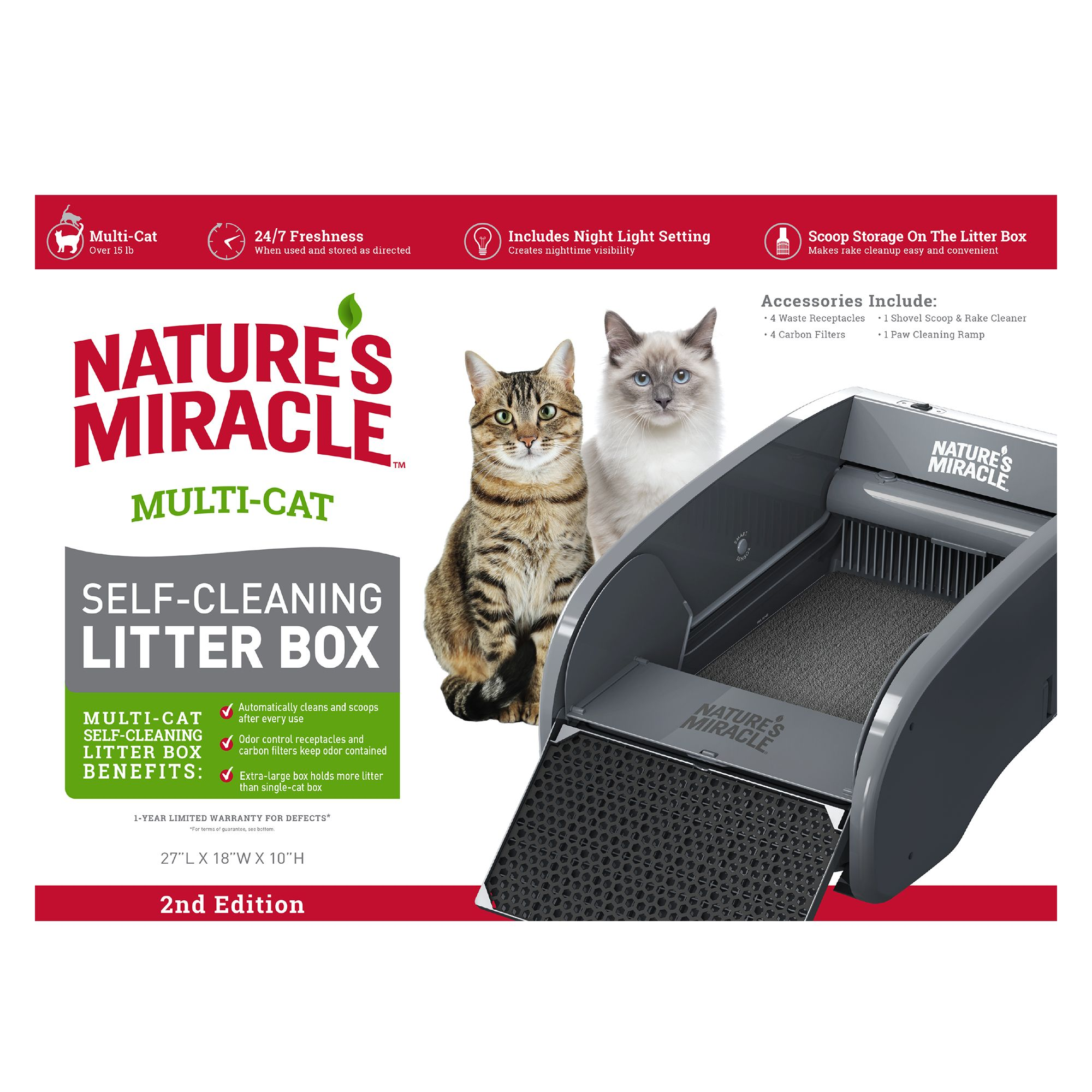 Best Self Cleaning Litter Box 2020.Nature S Miracle Multi Cat Self Cleaning Litter Box