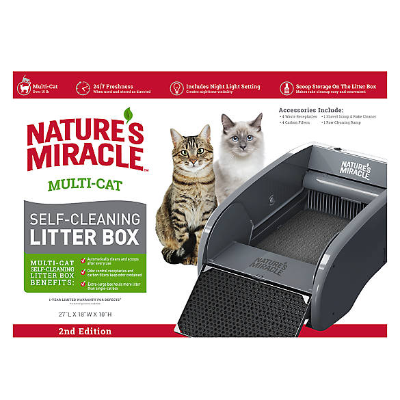 Nature S Miracle 174 Multi Cat Self Cleaning Litter Box Cat