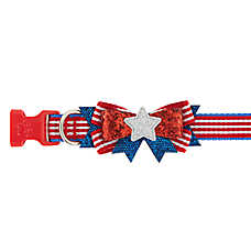 Top Paw® Americana Glitter Bow Dog Collar