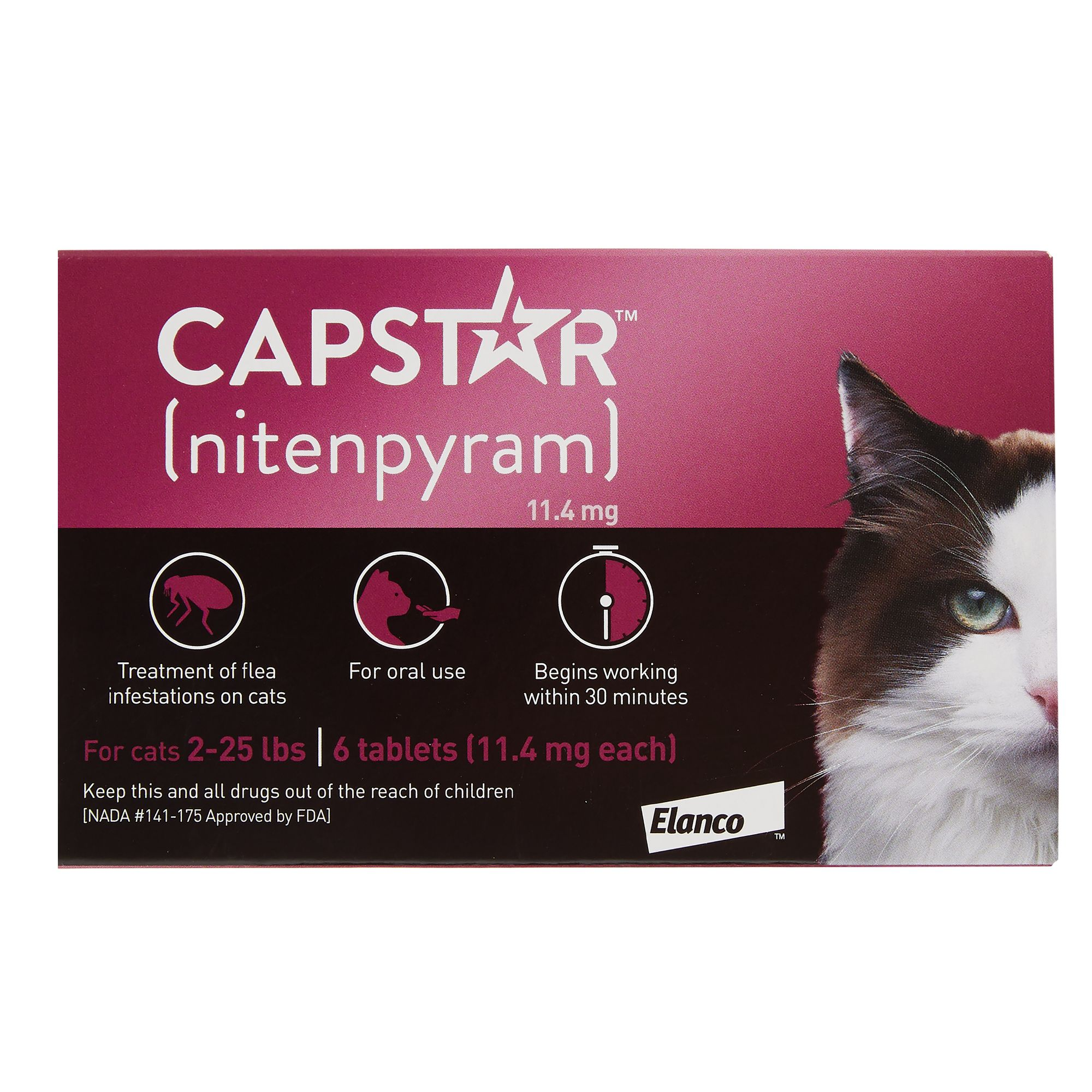 Capstar Trade 2 25 Lb Cat Flea Treatment 6 Count Cat Flea Tick Pills Petsmart