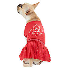 "Top Paw® Canada Day ""Oh Canada"" Pet Dress"