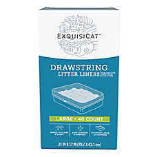ExquisiCat™ Drawstring Litter Liners - Large