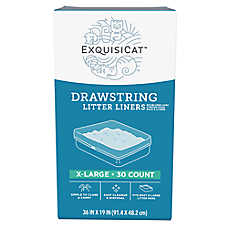 ExquisiCat™ Drawstring Litter Liners - X-Large