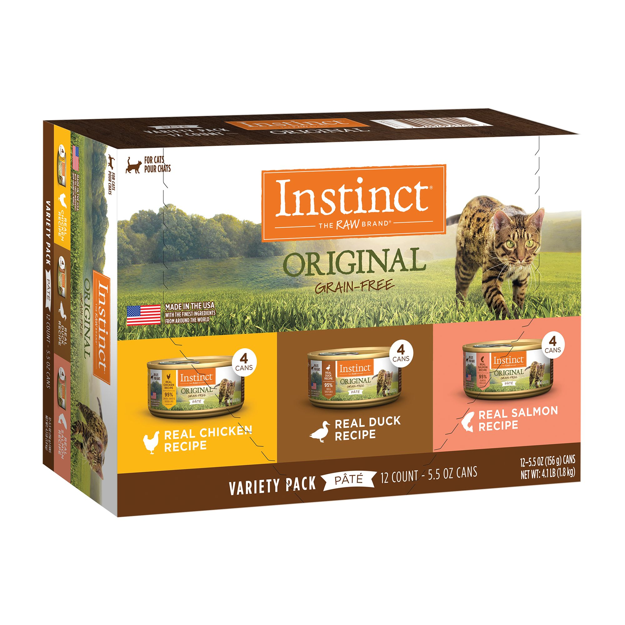 Nature's Variety Instinct Cat Food, Grain Free, Variety Count, 12 ct.