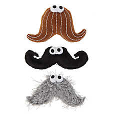 Whisker City® Hipcat Mustache Cat Toys - 3 Pack