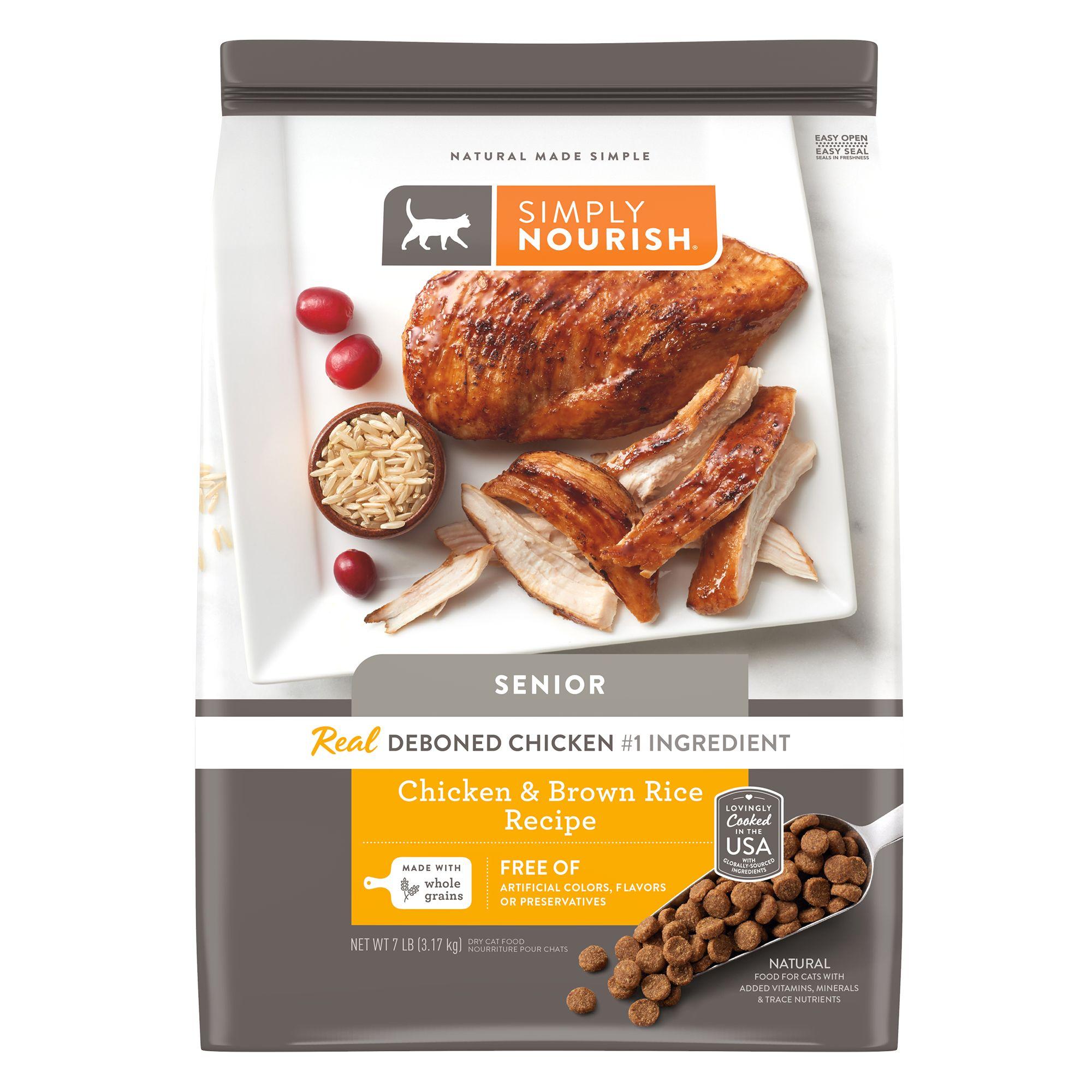 Simply Nourish® Senior Cat Food - Natural, Chicken & Brown Rice