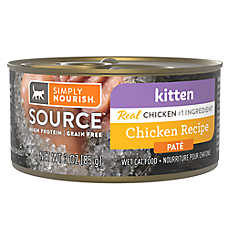 Simply Nourish® SOURCE ™ Pate Wet Kitten Food - Natural, High Protein, Grain Free