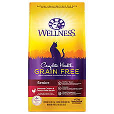 Wellness® Complete Health Senior Cat Food - Natural, Grain Free, Chicken & Chicken Meal
