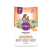 HALO® Adult Cat Food - Natural, Holistic Chicken & Chicken Liver