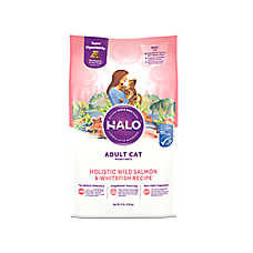 HALO® Adult Cat Food - Natural, Holistic Wild Salmon & Whitefish