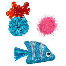 Whisker City® Under Sea Cat Toys - 3 Pack