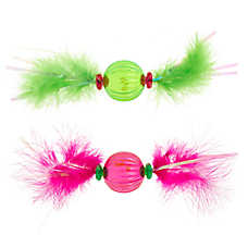 Whisker City® Feather Balls Cat Toys - 2 Pack