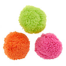 Whisker City® Fluff Balls Cat Toys - 3 Pack