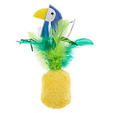 Whisker City® Chirping & Wobbling Parrot Pineapple Cat Toy - Catnip