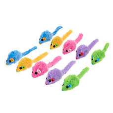 Whisker City® Mice Cat Toys - 10 Pack (COLOR VARIES)