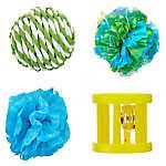 Whisker City® Balls Cat Toys - 4 Pack (COLOR VARIES)