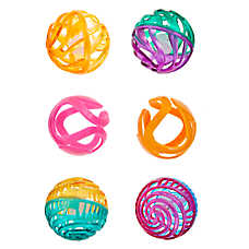 Whisker City® Fun Ball Cat Toys - 6 Pack (COLOR VARIES)