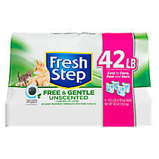 Fresh Step® Free & Gentle Cat Litter - Clumping, Unscented