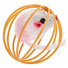 Whisker City® Mouse in Wire Cage Cat Toy - (COLOR VARIES)
