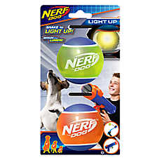 Nerf™ Dog Light-Up Tennis Ball Dog Toys - 2 Pack