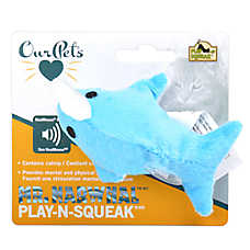 OurPets® Mr. Narwhal™ Play-N-Squeak® Cat Toy - Plush, Squeaker