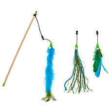 Whisker City® Feather Teaser Cat Toy - 3 Pack
