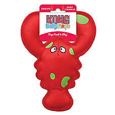 KONG® Belly Flops™ Lobster Dog Toy - Plush, Squeaker