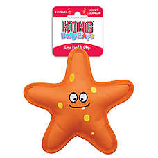 KONG® Belly Flops™ Starfish Dog Toy - Plush, Squeaker