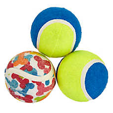 Top Paw® Active Tennis Ball Dog Toys - 3 Pack