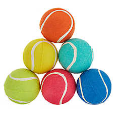 Top Paw® Tennis Ball Dog Toys - 6 Pack