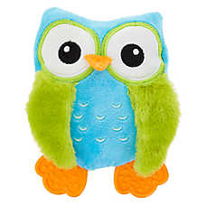 Top Paw® Owl Puppy Dog Toy - Plush, Squeaker