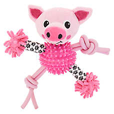 Top Paw® Pig Noodle Puppy Dog Toy - Plush, Squeaker