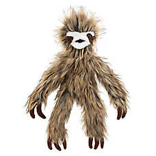 Top Paw® Realistic Sloth Dog Toy - Crinkle, Squeaker