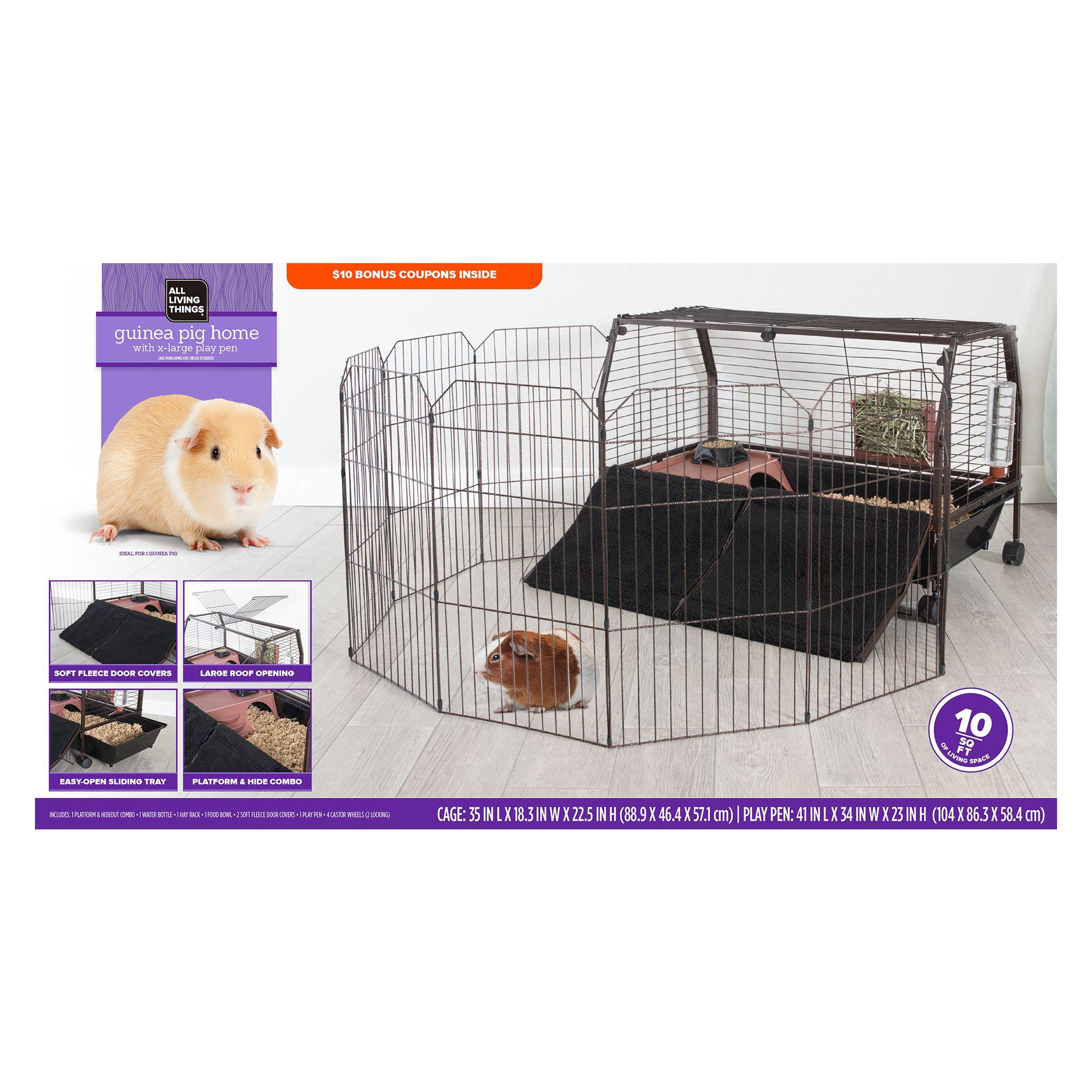 All Living Things® Guinea Pig Home & Play Pen Habitat