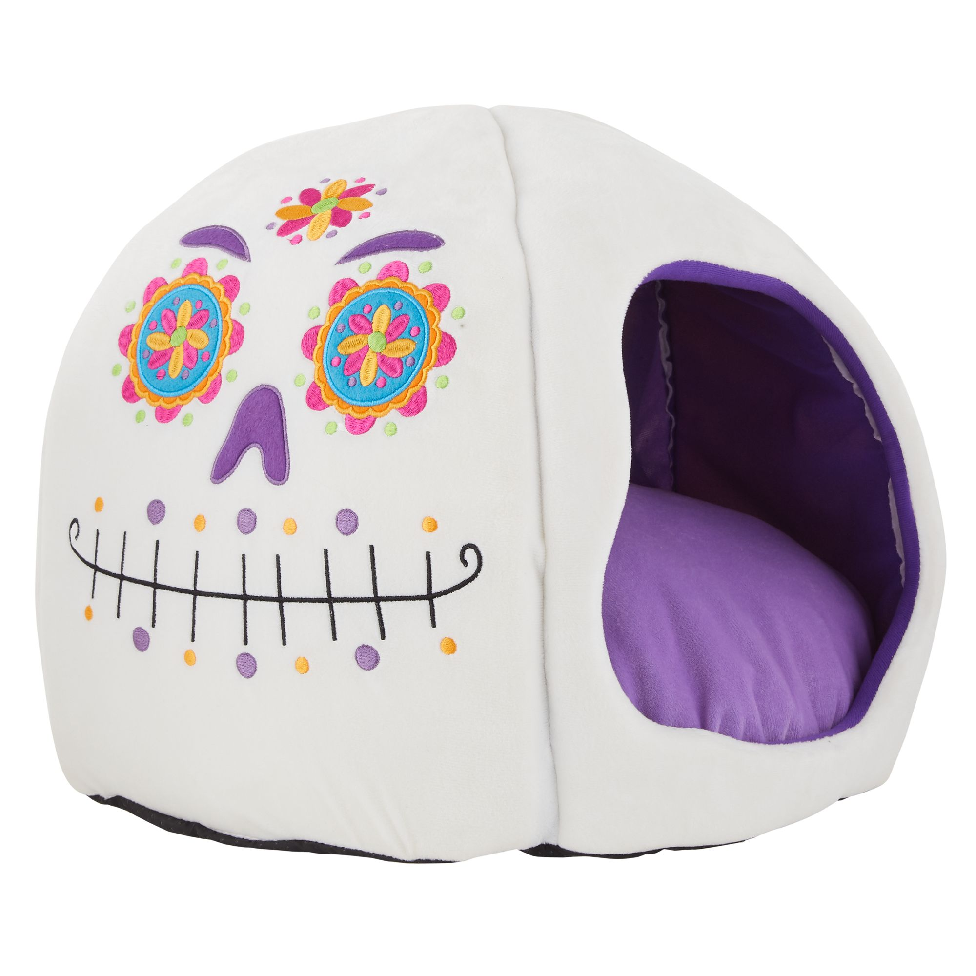 Stupendous Thrills Chills Halloween Sugar Skull Hut Pet Bed Ibusinesslaw Wood Chair Design Ideas Ibusinesslaworg