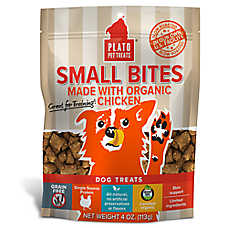 Plato® Small Bites Dog Treats - Natural, Limited Ingredient, Grain Free