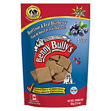 Benny Bully's Plus Dog Treat - Natural, Beef Liver & Blueberry