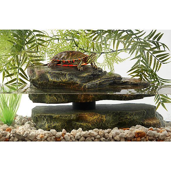 Thrive Semi Aquatic Large Rock Turtle Dock Reptile Habitat Decor Petsmart